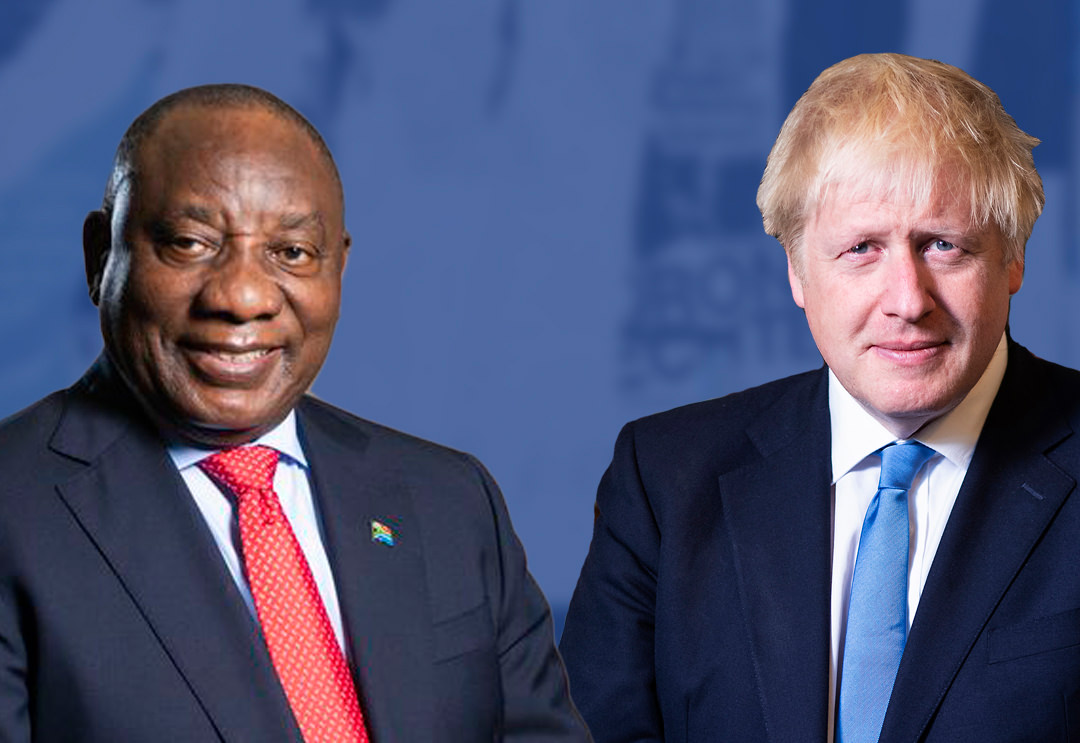 Prime Minister Boris Johnson met President Ramaphosa of South Africa at G7 summit in Cornwall